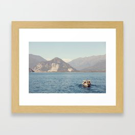 Boat on Lago Maggiore Framed Art Print