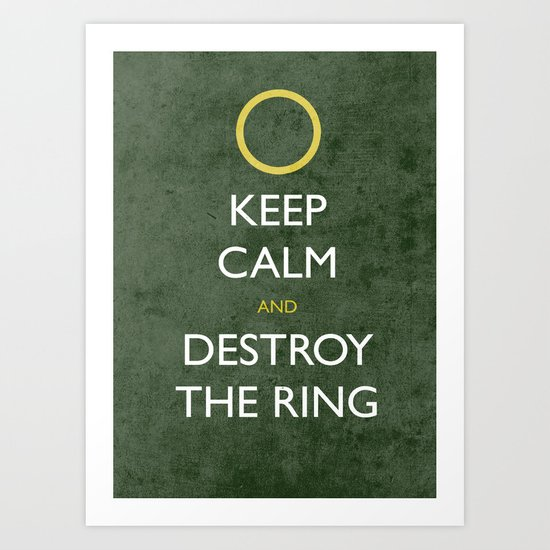 KEEP CALM frodo Art Print