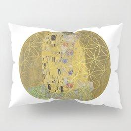 The Kiss - Gustav Klimt - Golden Flower Of Life Pillow Sham