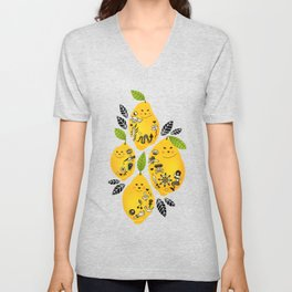 Tattooed Lemons Unisex V-Neck