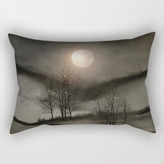 Calling The Moon II Rectangular Pillow