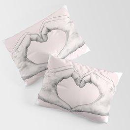 heart in hands // hand study Pillow Sham