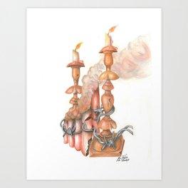 Five Chimneys (Pastel) Art Print