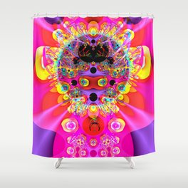 Fractal Inka Style Shower Curtain