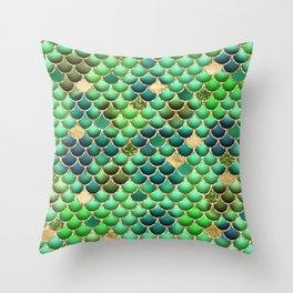 Mermaid Scales 12 Throw Pillow