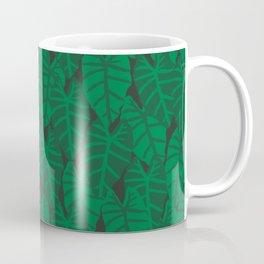 Elephant Ear house plant tropical garden green minimal pattern Coffee Mug