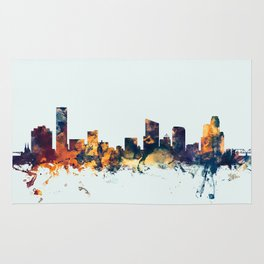 Grand Rapids Michigan Skyline Rug