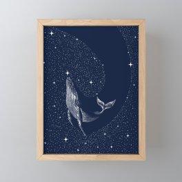 starry whale Framed Mini Art Print