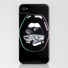 Space Lips Black Slim Case iPhone (4, 4s)