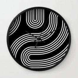 Curves - Black Wall Clock