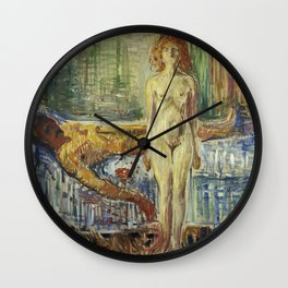 The Death of Marat II by Edvard Munch Wall Clock