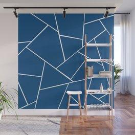 Classic Blue Geometric Glam #1 #geo #decor #art #society6 Wall Mural