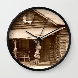 Old Log Cabin Wall Clock