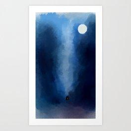 Cabin In Blues Art Print