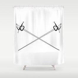 Rapier Foils Outline Shower Curtain