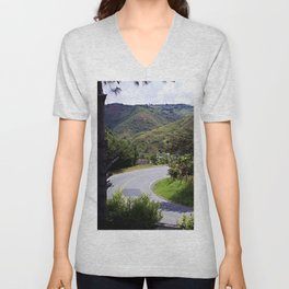 Country side landscape-  Valle del Cauca - Colombia Unisex V-Neck