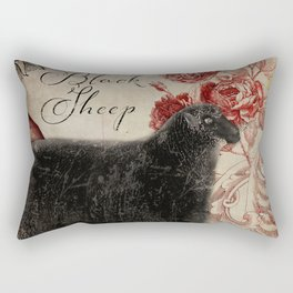 Baa Baa Black Sheep Rectangular Pillow