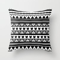 ethnic Throw Pillows featuring |Ethnic by ricardocarn