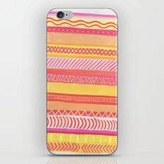 Tribal#1 (Orange/Pink/Yellow) iPhone Skin