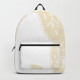 White palmistry hand Backpack