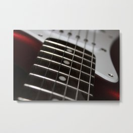 Red Stratocaster Metal Print