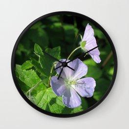 Wild Geranium Wall Clock