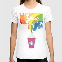 starbucks T-shirts featuring Starbucks Pop Art by Tiffany Taimoorazy