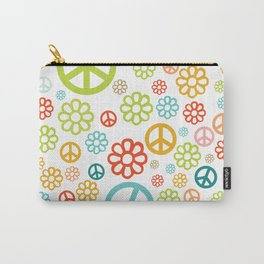 Retro Hippy Pattern Carry-All Pouch