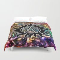 supernatural Duvet Covers featuring Supernatural by Spooky Dooky