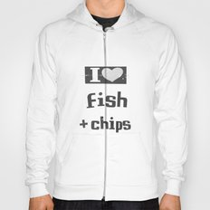 I ♥ Fish And Chips - Dark Gray Hoody