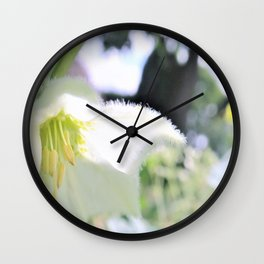 white flower dream Wall Clock