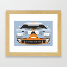 Ford GT40 in Gulf Oil livery Framed Art Print