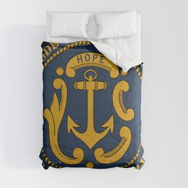 Rhode Island and Providence Plantations Hope and Anchor art portrait  Comforters