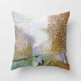 River Seine, Autumn, Paris, France by Francis Picabia Throw Pillow