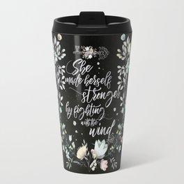 Secret Garden - She Made Herself Stronger (Black) Travel Mug