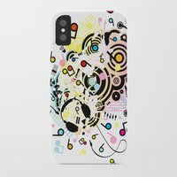headphones iPhone & iPod Cases featuring Headphones by AURA-HYSTERICA