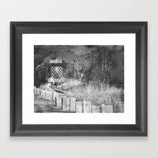 Train Spotting Framed Art Print