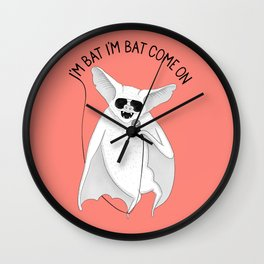 Bat singing M. Jackson | Animal Karaoke | Illustration Red Wall Clock