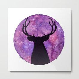Mr. Deer and the Universe Metal Print