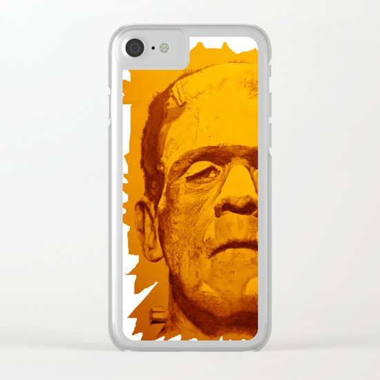 The creature - orange Clear iPhone Case