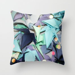 Senbazuru | shades of blue Throw Pillow