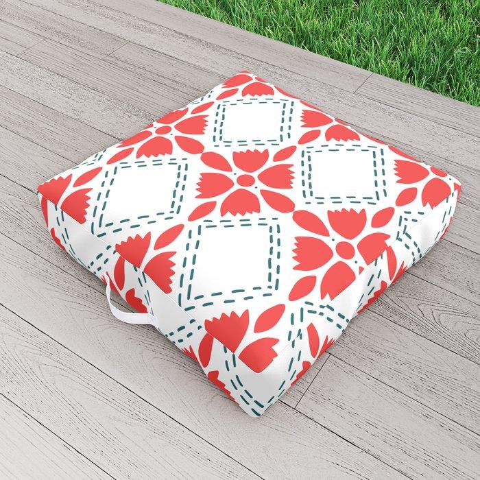 Freedom  Garden Pattern Outdoor Floor Cushion