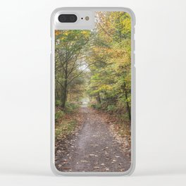 Autumn Cycle Path Clear iPhone Case