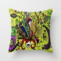 brain Throw Pillows featuring Brain by Art Corner