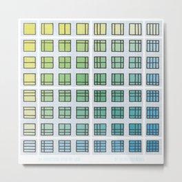 64 Variations Upon Thy Grid Metal Print