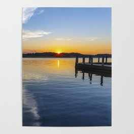 Sunset at the Boat Ramp Poster