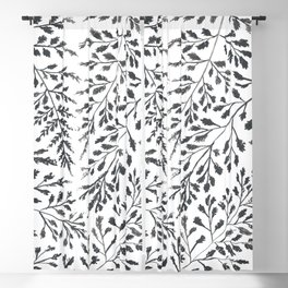Black Leaves Blackout Curtain
