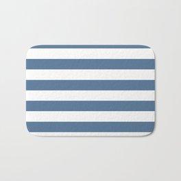 Blue and White Stripes Bath Mat