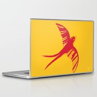 swallow Laptop & iPad Skins featuring Swallow by Cai Sepulis
