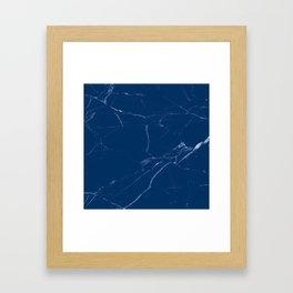 royal marine blue marble look Framed Art Print